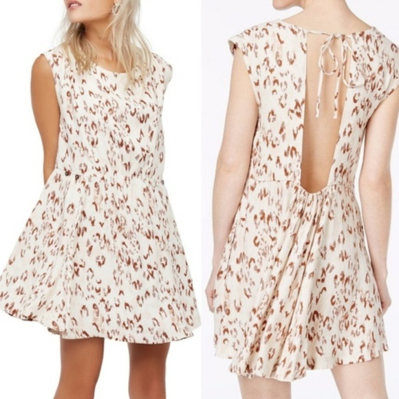Free People Dresses & Skirts - Free People Fake Love Ikat Print Open Back Dress S